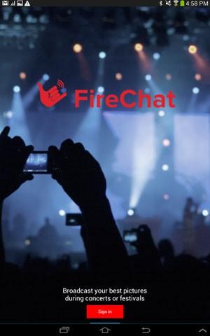 App de bate-papo, FireChat transforma celulares em nós de rede para enviar mensagens sem conexão com a internet. (Foto: Divulgação/OpenGarden)