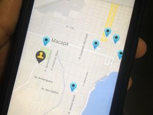 Usuários podem localizar mototaxistas por meio do aplicativo (Foto: Jéssica Alves/G1)