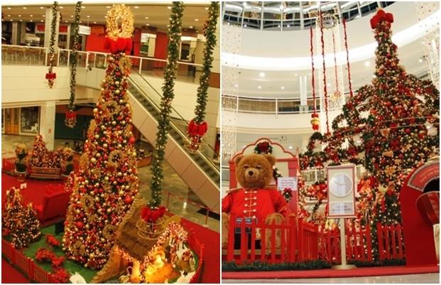 Decoração natalina do Shopping Flamboyant, em Goiânia (Foto: Marcos Cardoso/Divulgação)