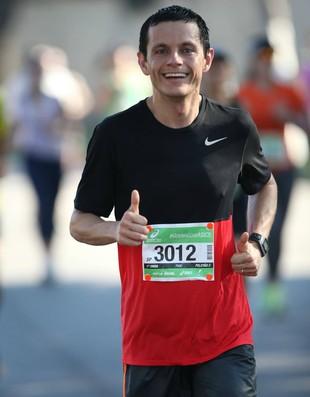 euatleta romulo zarelli maratona de sp (Foto: Arquivo pessoal)