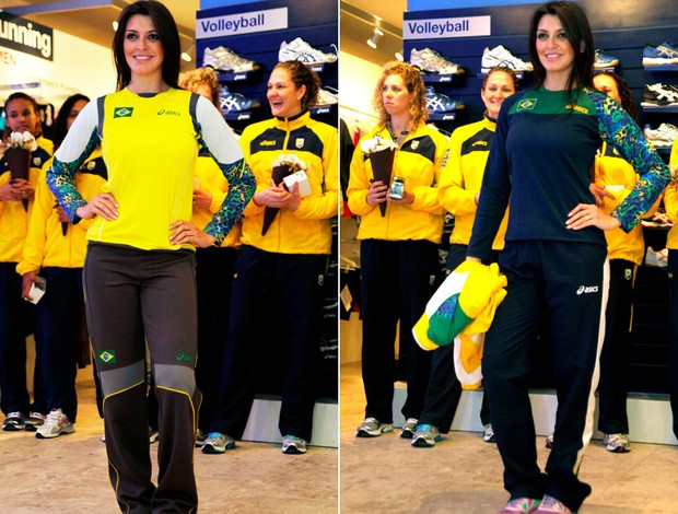 Montagem Uniforme goleiro da sele&#231;&#227;o feminina Handbol  (Foto: Editoria de Arte / Globoesporte.com)