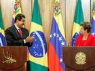 Ao lado de Maduro, Dilma condena 'ingerência externa'