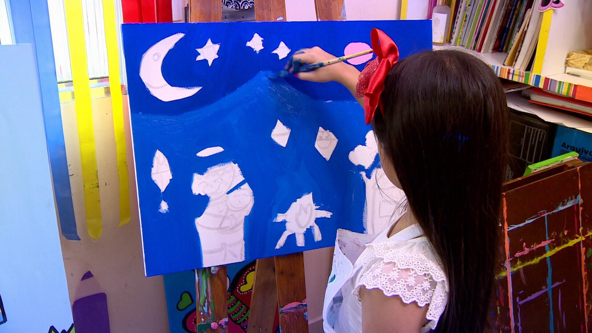 Projeto ensina arte com diversão para crianças (Foto: Amazônia Revista)