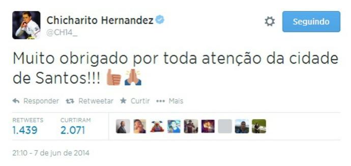 chicharito hernandez twitter santos (Foto: Reprodução / Instagram)