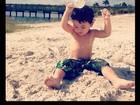 Daniele Suzuki posta foto fofa do filho: 'Meu lindo e puro verdadeiro amor'