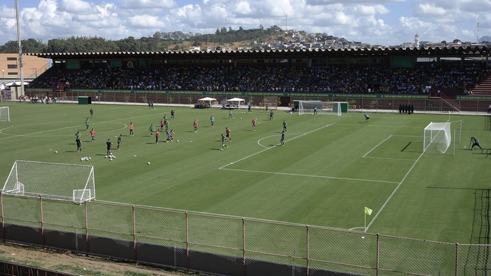Austrália fez um treino aberto ao público na manhã deste sábado, em Cariacica, no Espírito Santo (Foto: Richard Pinheiro/GloboEsporte.com)