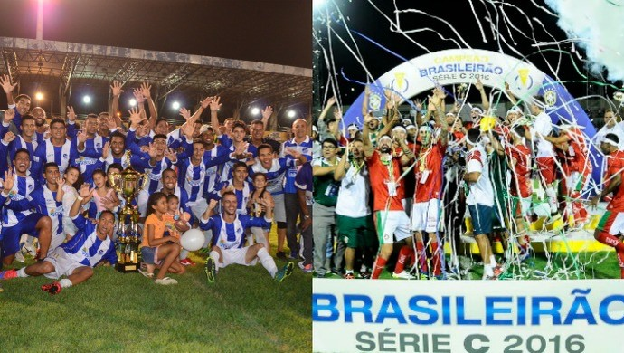 Duelo de campeões: São Raimundo-RR (roraimense) e Boa Esporte (Série C) (Foto: Arte)