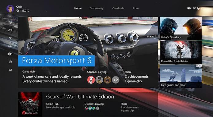 Xbox One: nova atualização promete deixar o console até 50% mais rápido (Foto: Reprodução/Gamespot)