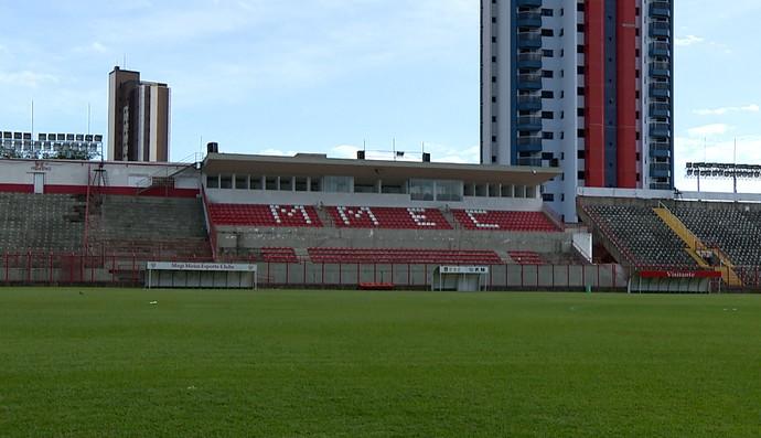 Estádio Vail Chaves, Mogi Mirim (Foto: Reprodução EPTV)