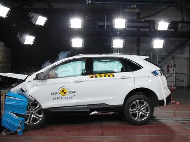 Ford Edge No Teste De Colisao Do Euro Ncap Foto Divulgacao