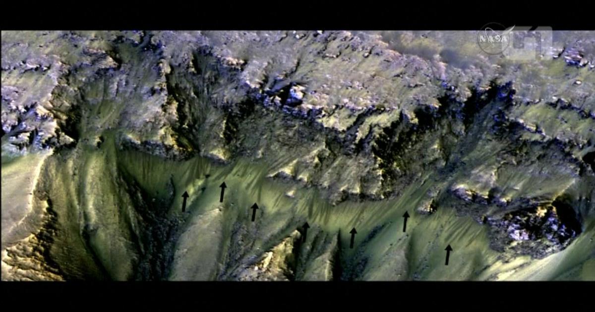 Marte tem 'córregos' sazonais de água salgada, revela sonda da Nasa