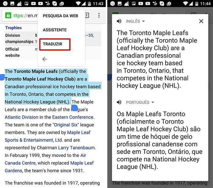 Usuário pode usar Google Tradutor sobre outros aplicativos no Android Marshmallow (Foto: Reprodução/Elson de Souza)