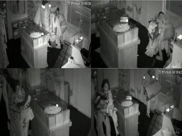 Câmeras registraram ação dos criminosos em Sorocaba (Foto: Reprodução/TV TEM)