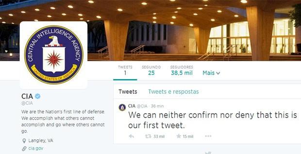 Perfil da Cia no Twitter (Foto: Reprodução/Twitter/CIA)