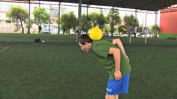 Ricardinho Alves Steinmetz futebol cego melhor do mundo futebol 5 Olimpiada (Foto: Reprodução/RBS TV)