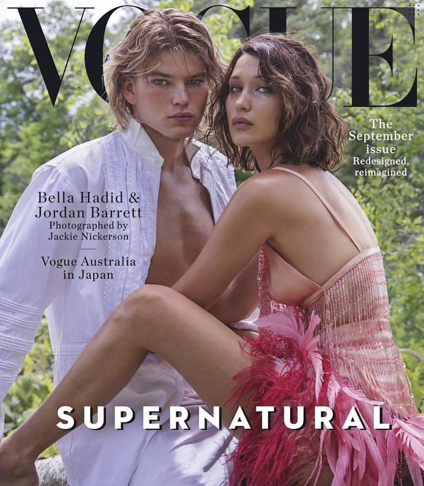 Bella Hadid e Jordan Barrett  (Foto: reprodução)