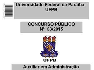 Prova do concurso da UFPB (Foto: Reprodução)