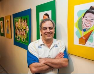 Cristóvão Villela se inspirou na Olimpíada para a Exposição (Foto: Wallace Feitosa/ Divulgação Gacemss)