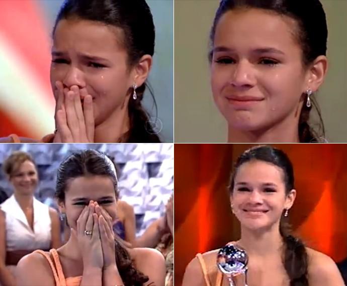 Bruna Marquezine chora muito ao vencer o Melhores do Ano (Foto: TV Globo)