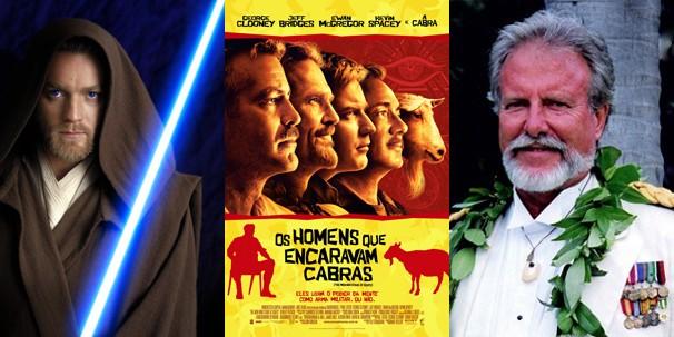 A cabra é destaque do título, do poster (centro) e dos créditos do filme (Foto: Divulgação/Reprodução)