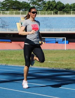 Maurren Maggi volta aos treinos (Foto: Marcos Guerra)