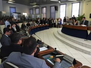 Sessão solenemarca início dos trabalhos da Câmara dos Vereadores em 2015 (Foto: Inaê Brandão/ G1 RR)