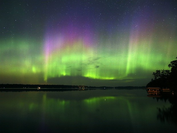 Aurora boreal (Foto: The Star Tribune/Brian Peterson/AP)