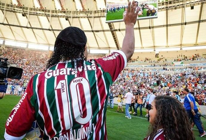 Ronaldinho apresentação 6 (Foto: Alexandre Vidal)