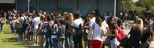 Público da Bienal reclama de filas para entrar no Riocentro (Rodrigo Gorosito / G1)