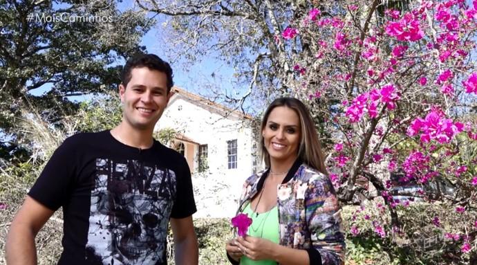 Em Santo Antônio de Posse (SP), Pedro Leonardo e Aline Lima conhecem uma fazenda centenária, que produz produtos orgânicos (Foto: reprodução EPTV)