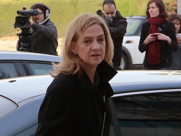 Cristina de Borbón é acusada de cooperar em dois delitos fiscais relacionados com o desvio de mais de 6 milhões de euros (Foto: Reuters)
