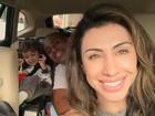 Após temporada na casa da mãe, em SP, Jaque Khury volta ao Rio com filho