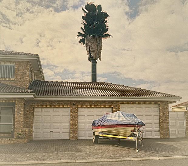 Com design diferente, torre se destaca atrás de casa na África do Sul  (Foto: Dillon Marsh/Divulgação)