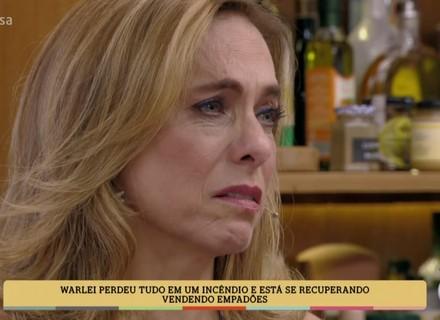 Cissa Guimarães se emociona com história de vida de convidado no 'É de Casa'