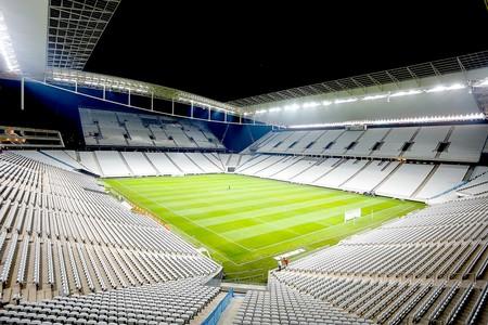 Arena Corinthians iluminação noturna estádio Copa (Foto: Rodrigo Coca / Agência Corinthians)