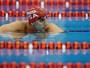 De olho na carreira musical, americano se despede da natação no Raia Rápida
