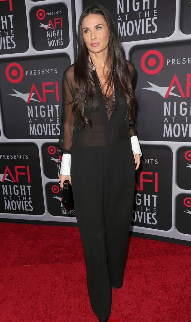 Demi Moore em premiação de cinema em Los Angeles, nos Estados Unidos (Foto: Frederick M. Brown/ Getty Images/ AFP)