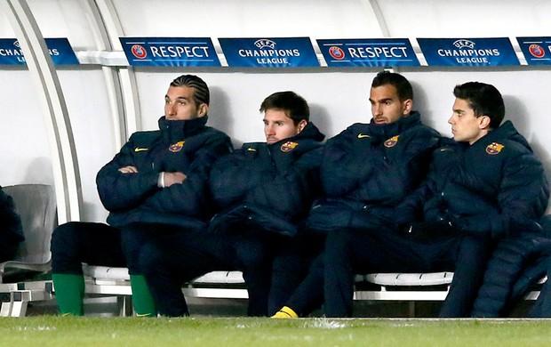 Messi banco de reservas PSG Barcelona (Foto: AFP)