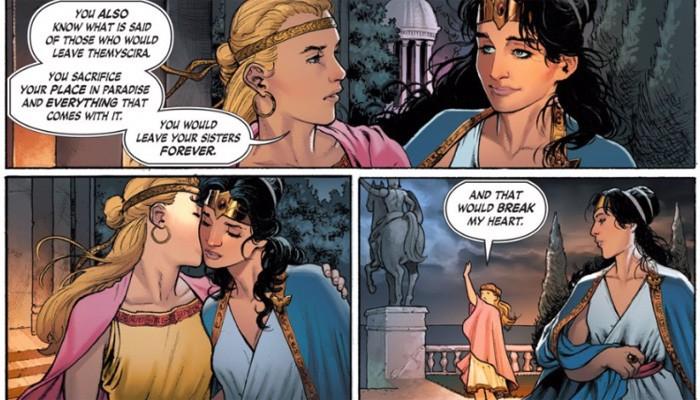 Diana com um interesse amoroso nos quadrinhos (Foto: Reprodução)
