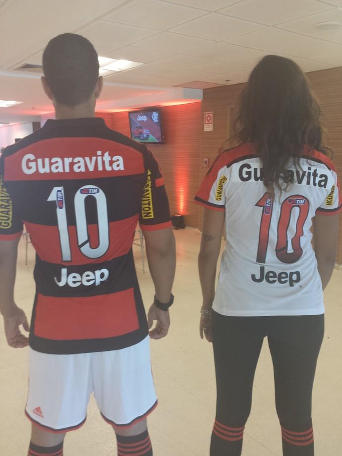 Camisa Flamengo novo patrocinador (Foto: Sofia Miranda)