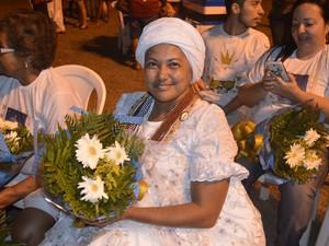 Carmem Sheila Araújo, adepta do Candomblé (Foto: Gabriel Dias/G1)