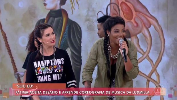 Fatima Bernardes e Ludmilla  (Foto: Reprodução/Globo)