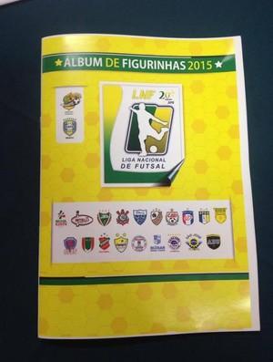 Álbum de figurinhas liga nacional de futsal (Foto: Divulgação/LNF)