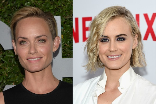 As atrizes Amber Valletta e Taylor Schilling (Foto: Getty Images)