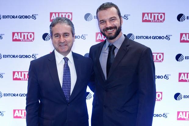 Rafael-Borges,-chefe-de-imprensa-da-Toyota,-e-Ricardo-Bastos, Diretor de Assuntos Governamentais da Toyota (Foto: Ricardo Cardoso)