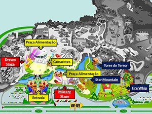 Mapa para a festa Dream Valley (Foto: Divulgação/Dream Valley Festival)