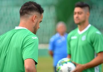 Pipico e Everton atacantes Guarani (Foto: Murilo Borges)