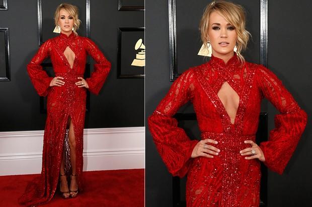 Carrie Underwood no Grammy (Foto: Agência AFP)