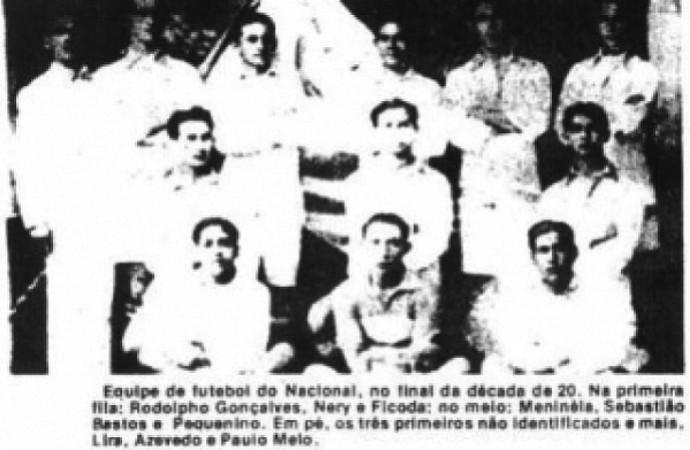 Nacional campeão amazonense 1922 (Foto: Reprodução/Baú Velho)