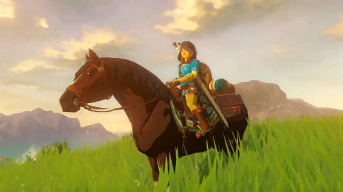 The Legend of Zelda: Breath of the Wild traz várias formas de locomoção, desde cavalos a algumas mais inusitadas exibidas na E3 2016 (Foto: Reprodução/Nintendo Enthusiast)